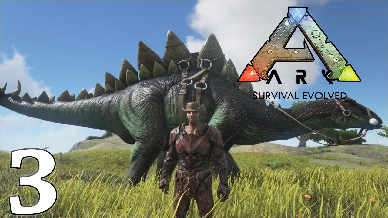 ark survival evolved gameplay how to tame a stegosaurus let s