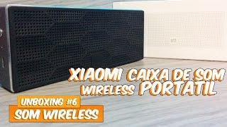unboxing 6 caixa de som xiaomi mi portable wireless