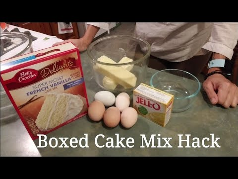 ~Boxed Cake Mix Hack~ Better Than Bakery Cake