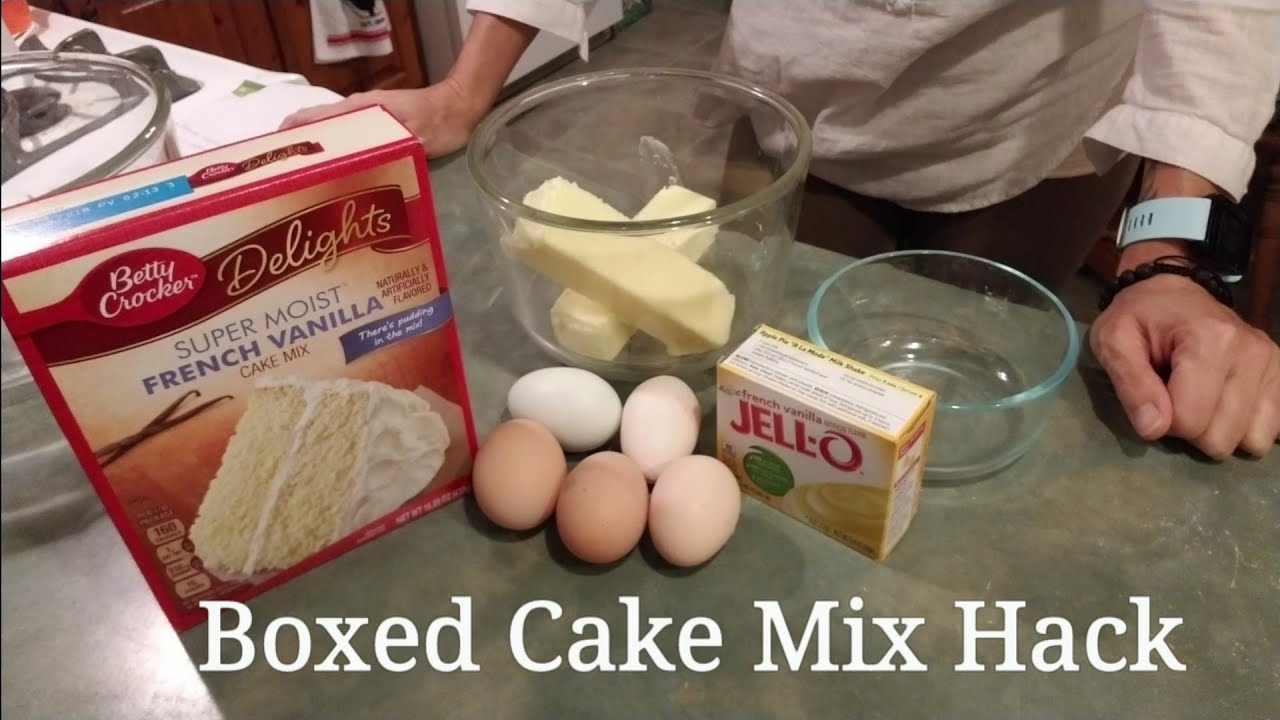 How To Make A Box Cake Taste Like A Wedding Cake.Boxed Cake Mix Hack Better Than Bakery Cake