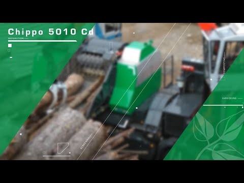 Chipping of logs with Komptech Chippo 5010 Cd