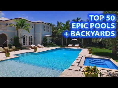 TOP 50 Most EPIC Pools + Backyards! LUXURY TV