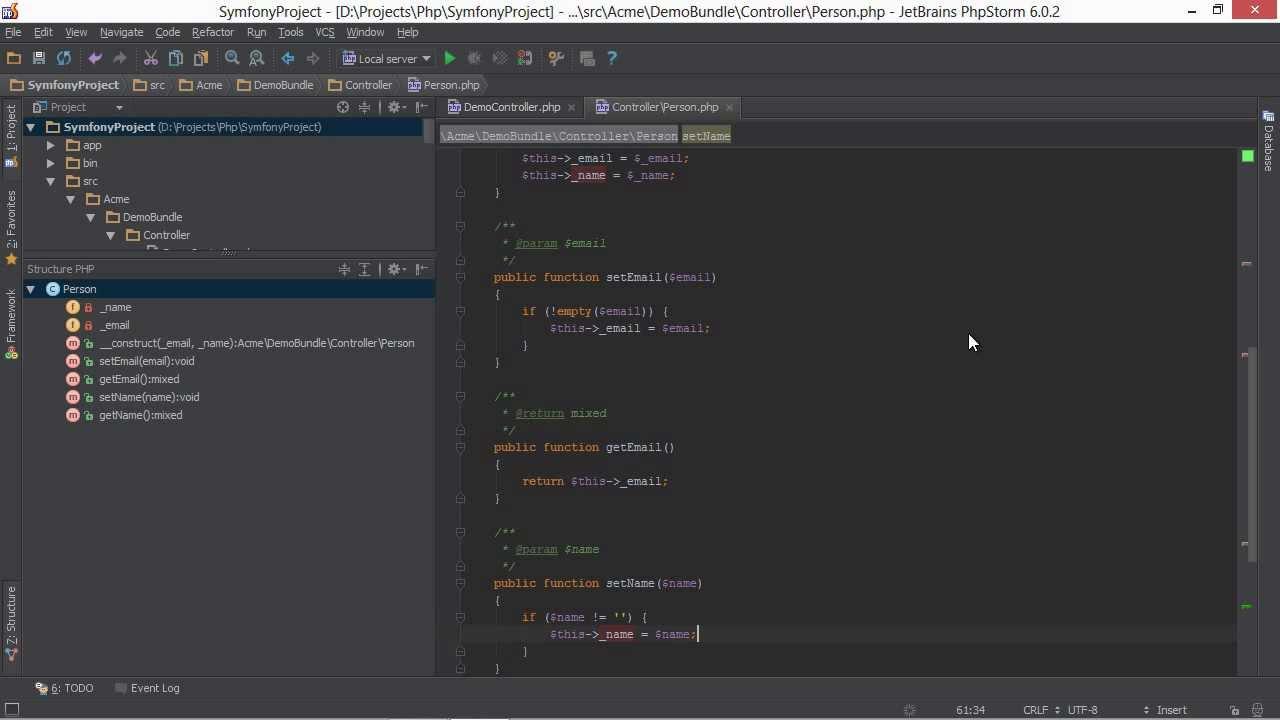 Generating Code in PhpStorm - PhpStorm Video Tutorial - YouTube