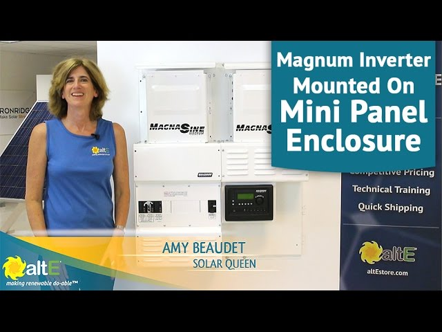Magnum Inverter Mounted On Mini Magnum Panel Mmp Enclosure Youtube