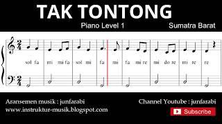 not balok tak tontong - piano level 1 - lagu daerah sumatra barat - doremi solmisasi