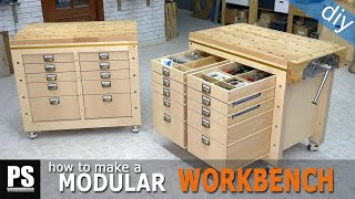 Modular Workbench & Mobile Tool Stand (Ep.3)
