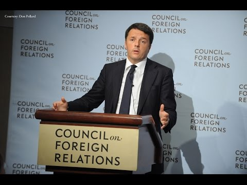 Prime Minister Matteo Renzi on Growth and Jobs in Italy