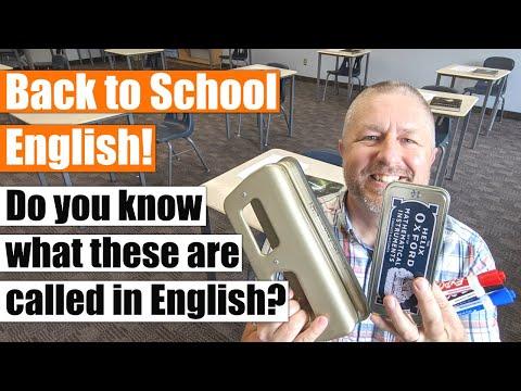 A Back to School English Lesson! Do You Know What These School Items are Called in English?
