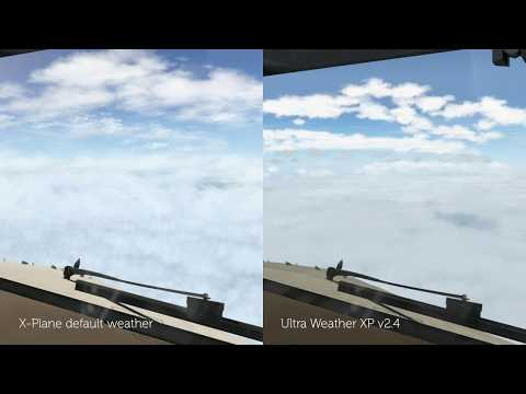 X-Plane 11] Weather Comparison – default weather +