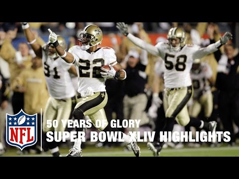 Saints vs. Colts | Super Bowl XLIV Highlights | 50 Years Of Glory | NFL