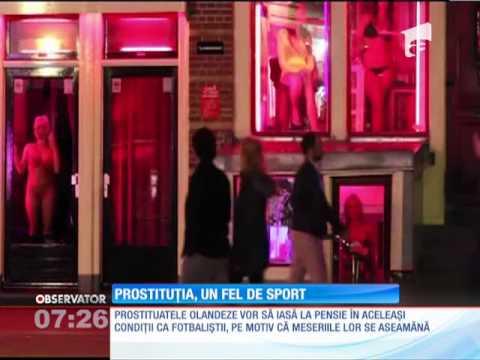 Prostituatele din Olanda vor să iasă la pensie în aceleaşi condiţii cu jucătorii de fotbal