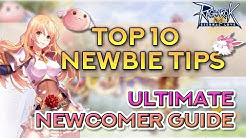RAGNAROK TOP 10 NEWBIE TIPS | Ragnarok Mobile Eternal Love
