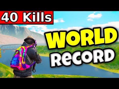 "40 KILLS ""WORLD RECORD"" Solo Vs Squads 