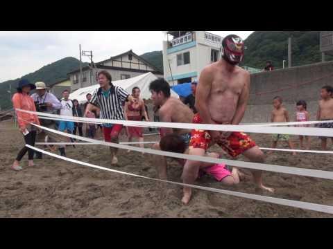 信州プロレス 2017-07-16 谷浜海水浴場マッチメイン