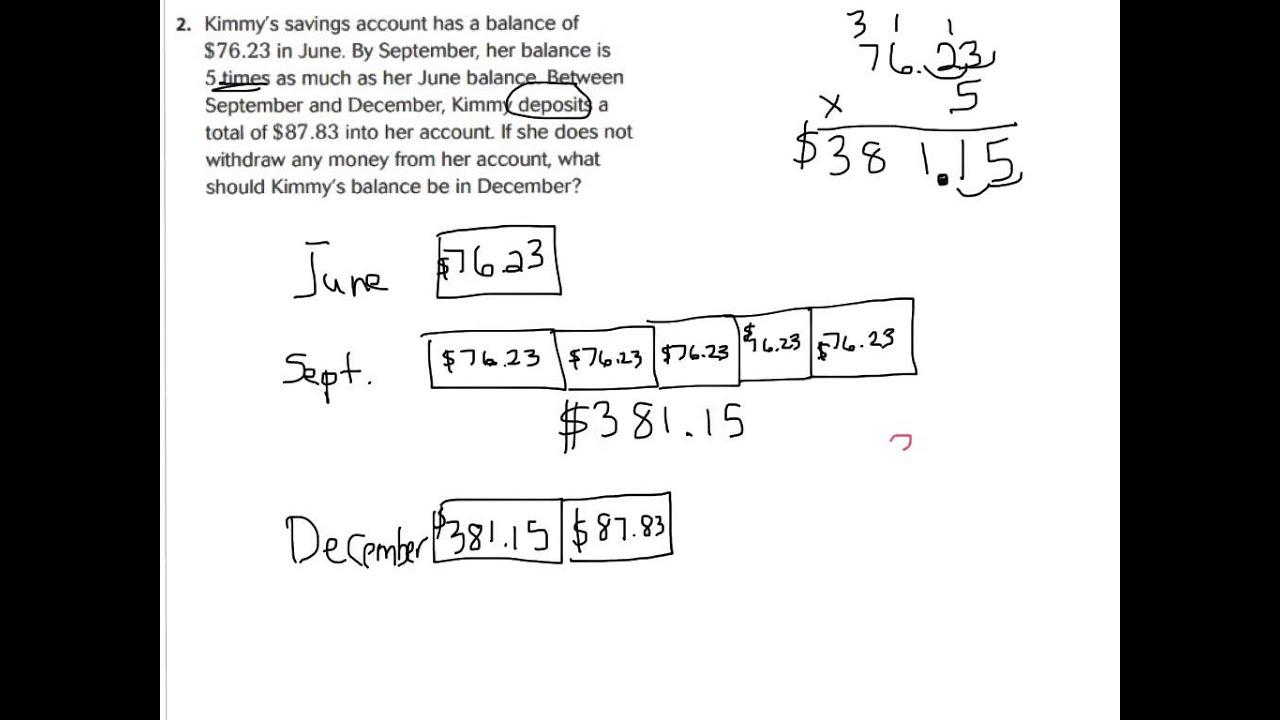 hight resolution of Lesson 4.5 problem solving multiplying money - YouTube
