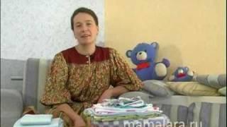 видео Вяжем приданое новорожденному