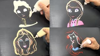 Girls Pancake Art Compilation - Elsa, Anna, Barbie, Ariel