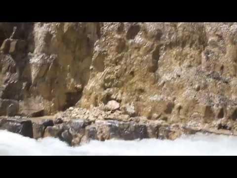 Waterfall. Travel in Kazakhstan. Nature. Summer.