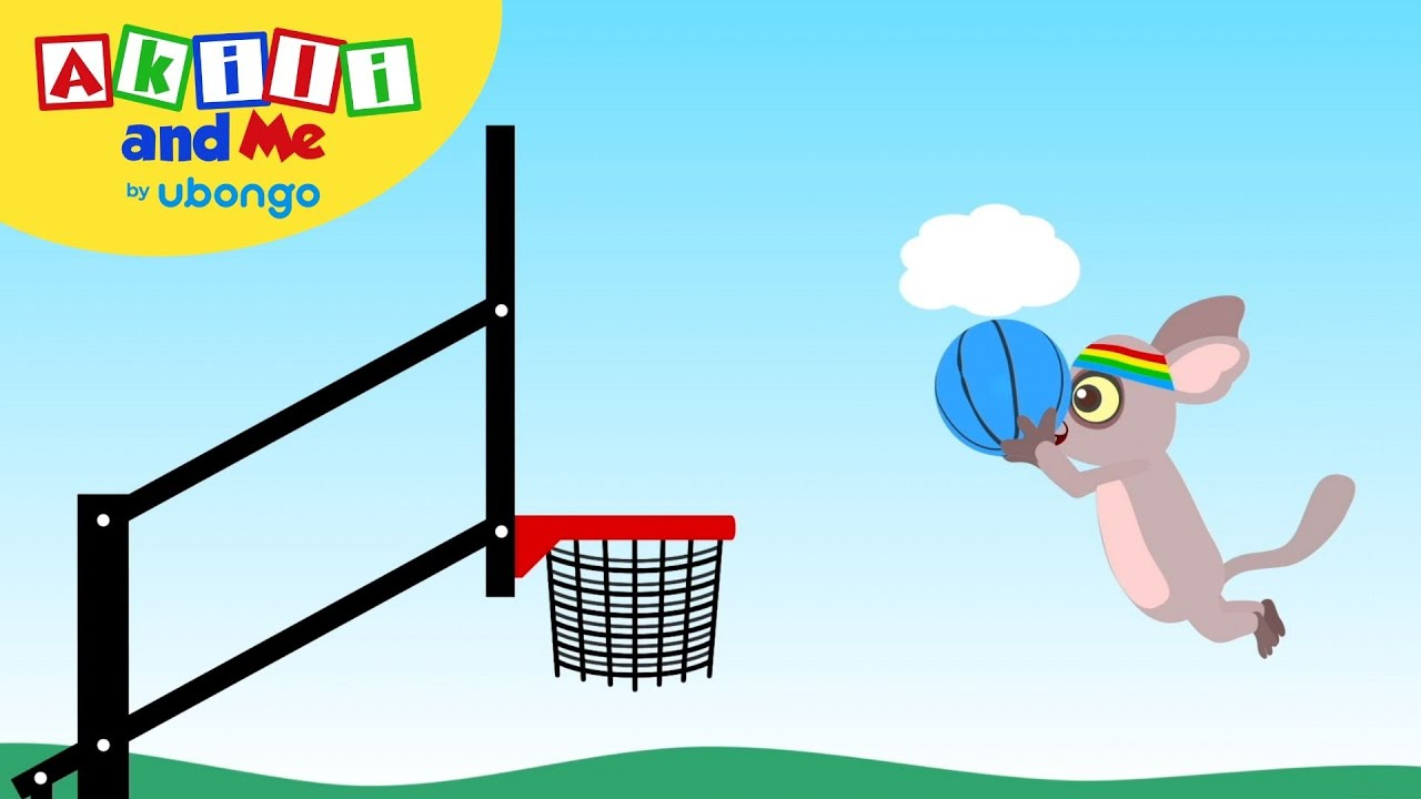 Draw a Basketball with Bush Baby! | Draw with Akili and Me ...