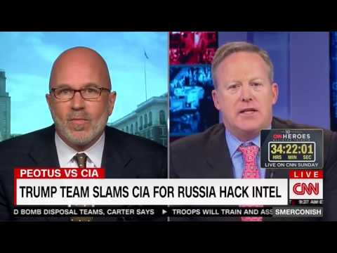 Breaking News CNN Smerconish, RNC Sean Spicer Shouting Match Interview on Trump, CIA, Russia Hack