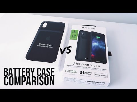 MOPHIE JUICE PACK ACCESS VS. APPLE'S SMART BATTERY CASE FOR IPHONE XS/XS MAX/XR