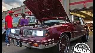 "Stuntfest 2k15 : Skin's Customs Cutlass on 24"" staggered wheels"