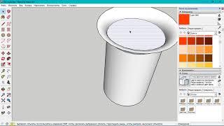 Как нарисовать фланцевый раскрыв в SketchUp