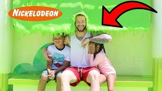 FamousTubeKIDS Get SLIMED at Nickelodeon!