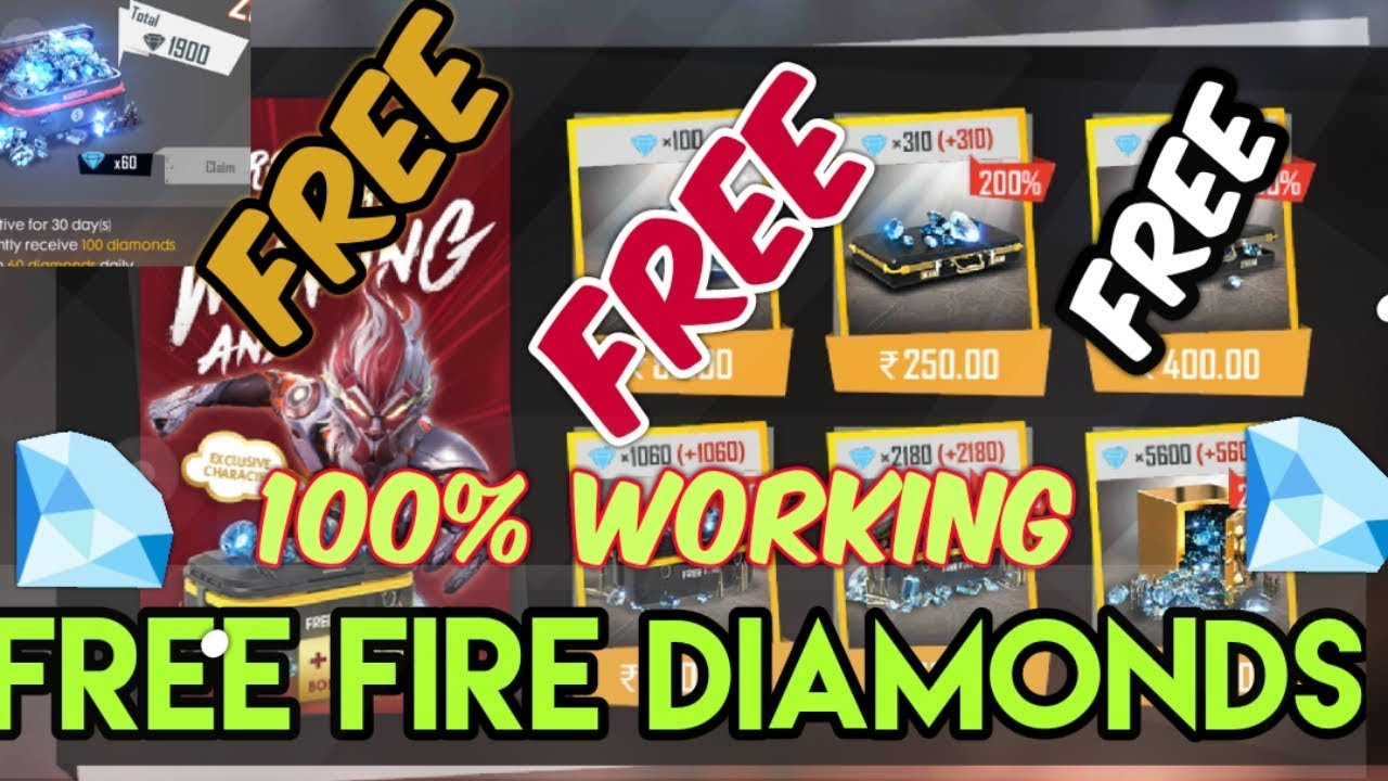 How To Buy Free Fire Diamonds For Free Working Best Way To Get Free Elite Pass