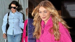 Gigi Hadid Meets Up With Sister Bella After Losing Her Heel On Anna Sui Runway