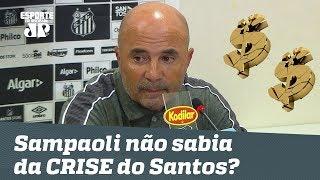 Baixar Sampaoli não sabia da crise financeira do Santos?