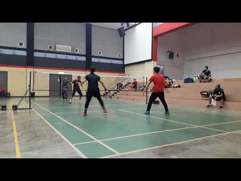 Badminton Training Saleh & Akmal Vs Rahman & Ali