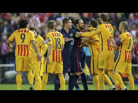 Thumbnail: Barcelona vs. Atletico Madrid (Fights, Fouls, Red Cards)