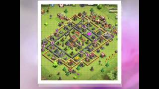 CLASH OF CLANS TOWN HALL 8 base (best defense) still not gud but i am working on it
