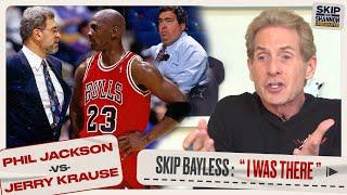 "Phil Jackson vs Jerry Krause: Skip Bayless On Feud that Broke Up ""The Last Dance"" Bulls | UNDISPUTED"