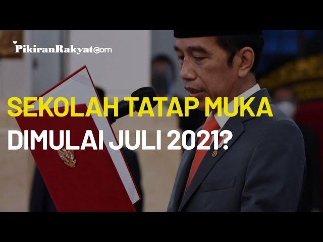 Optimistis Vaksinasi Covid-19 Berjalan Baik, Jokowi Sebut Sekolah Tatap Muka Dimulai Juli 2021