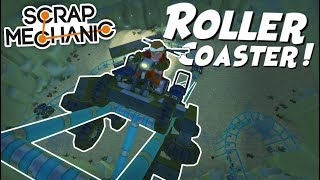 ROLLER COASTER in a CAVE! - Scrap Mechanic Gameplay Viewer Creations!