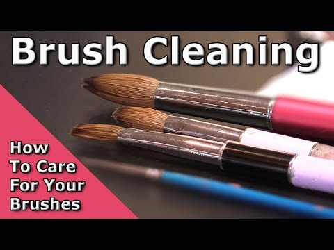 How Do I Care For My Nail Art Brushes? - Cleaning, Storage and Revitalising Your Brushes