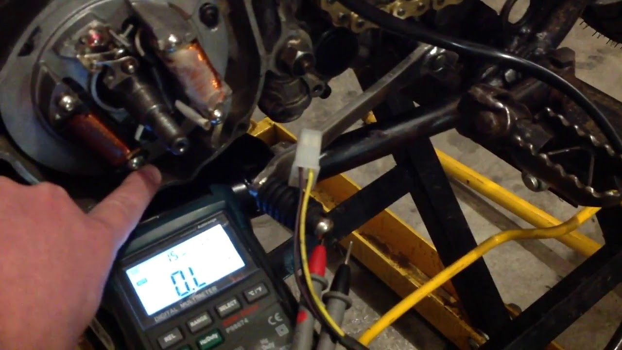 hight resolution of  yamaha 1974 yamaha dt250a source coil testing youtube on yamaha xs650 simple wiring diagrams