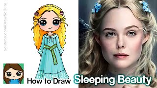 How to Draw Sleeping Beauty Princess Aurora | Disney Maleficent