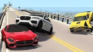 Bridge Collapsing Pileup Car Crashes 3 Beamng Drive