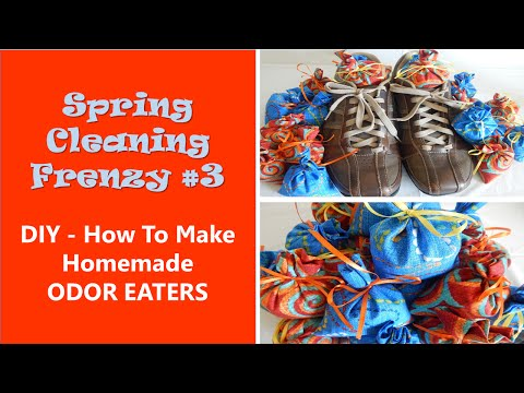 Spring Cleaning Frenzy #3 - DIY Make Homemade Odor Eaters