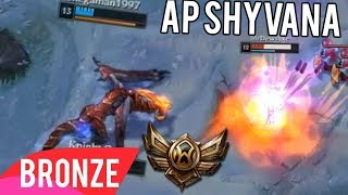Bronze 6 Player Unleashes Full AP Shyvana In Ranked Because Of Me - Bronze Spectates