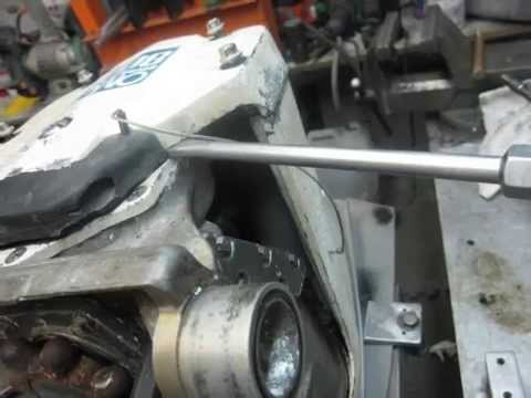 OMC 400 800 upper gearcase removed from exhaust housing