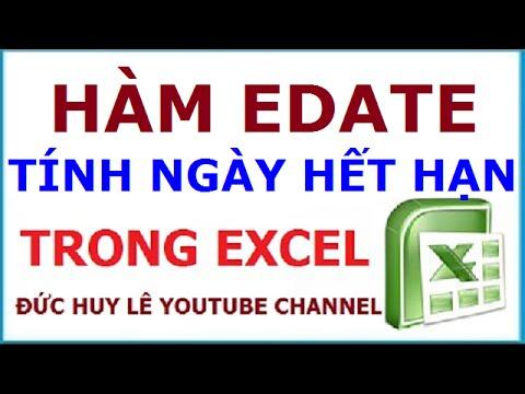 Cách dùng hàm Edate tính ngày hết hạn trong Excel