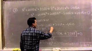 Разбор заочного этапа олимпиады Ломоносов по математике для 1011 классов 2012