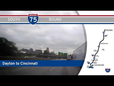 Interstate 75 - Dayton to Cincinnati - Ohio    Drive America's Highways 🚙