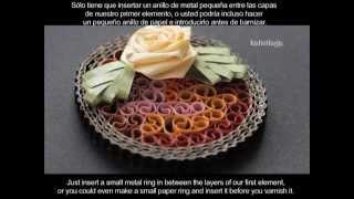 Quilled jewelry- Bijoux en quilling - Joyería de papel enrollado