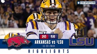 Arkansas Vs LSU Highlights The Tigers Book SEC Title Game Berth CBS Sports HQ YouTube