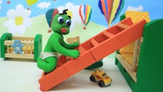 Baby Video Cartoons - Green Baby Compilation 96 to 105Ep. - Play Doh Baby Stop-Motions